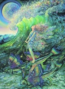 "Inspirational Card ""Surfer's Dream"" Inspirational Greetings Card by Josephine Wall"